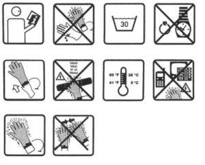 instruksjon hansker